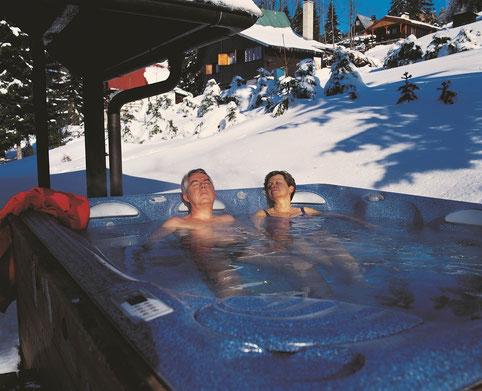 Whirlpool uns Schwimmspa Heizungsmöglichkeiten