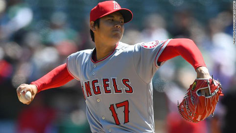 Nella foto Shohei Ohtani (photo by CNN)