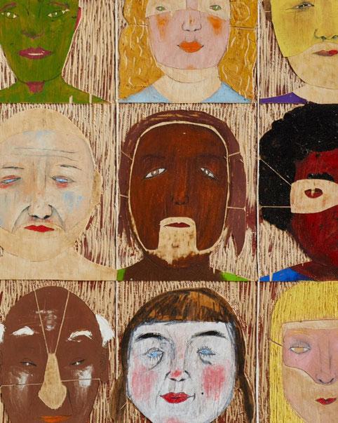 Julia von Troschke, ich und du...(Detail), Mischtechnik auf Holz, 61 x 80 cm, 2016