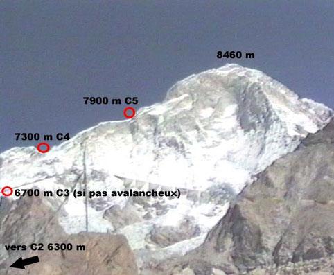 Makalu de Camp 3 au sommet