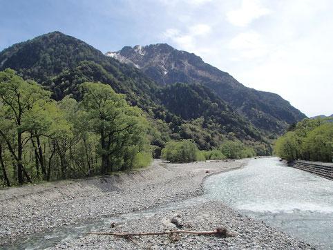 梓川と六百山