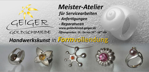 Geiger Goldschmiede Mainz Gonsenheim Handwerkskunst in Formvollendung