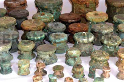 Fig. 27. Miniature drums in Thanh Hoa Museum, (courtesy Thanh Hoa Museum)