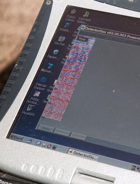 Messbild der Prospektion als Bildsäule