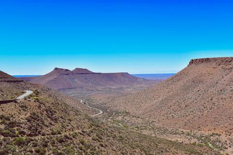 Klipspringerpass auf dem Hauptloop im Karoo National Park