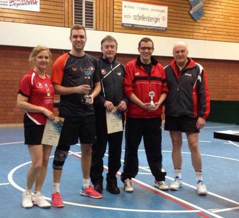 Die Stärksten: (von links) Christa und Nico Beck, Kalle Simon, Johannes Arend und Wolfgang Stöber.