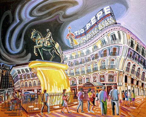 CARLOS III (MADRID). Oil on canvas. 73 x 92 x 3,5 cm.