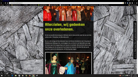 De oude website in volle glorie.