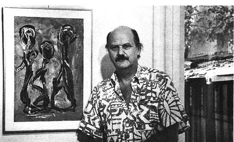 Pendler zwischen den Kulturen Pedro Meier. (Foto Eva Buhrfeind)  27.08.1992