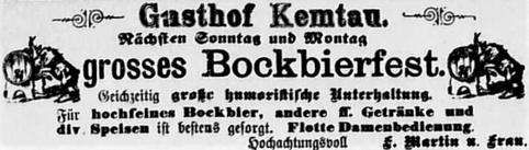 Anzeige aus Burkhardtsdorfer Zeitung vom 27.1.1909
