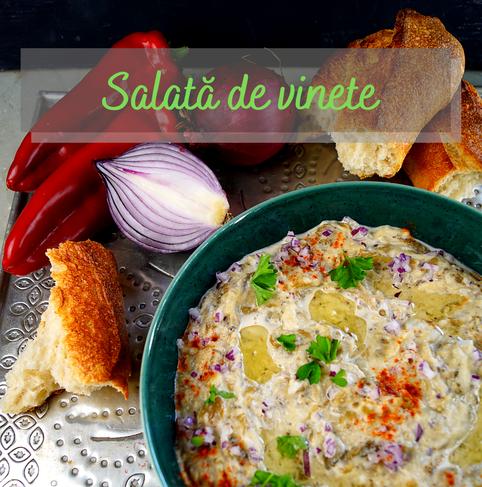 cremiger Auberginensalat aus Rumänien, der auch als Dip hervorragend schmeckt
