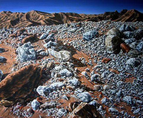 Wüstenansicht     1,20 x 1,00 m     Acryl & Ölstift auf Leinwand  / acrylic & oil pen on canvas