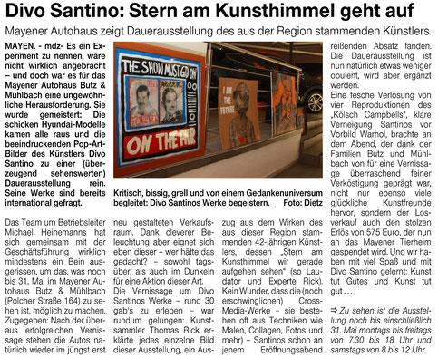 Pressebericht, Divo Santino, Am Wochenende, Super Sontag