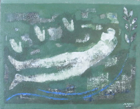 Moon in Water  31.8×41cm 2002