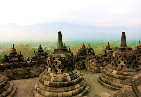 Borobudur in der nähe von Yogyakarta