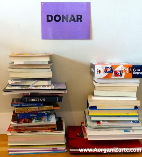 Dona los libros que no quieras mantener - AorganiZarte