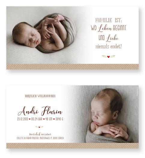 Geburtskarte Geburtsanzeige