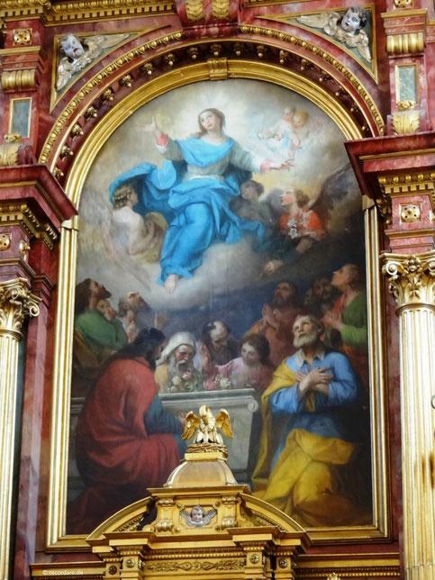 """Hochaltargemälde """"Mariä Himmelfahrt"""", Bekehrung des Hl. Paulus, Taufkirchen (Vils)"""