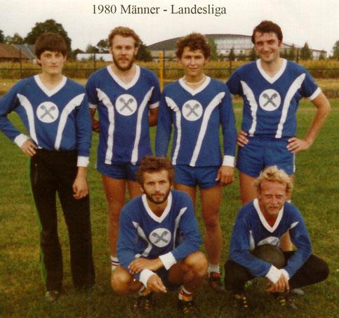v.v.li: Heiner Jodlbauer, Karl Prechtl  h.v.li: Gerhard Hauseder, Walter Loferer, Andreas Petr, Wolfgang Bruneder