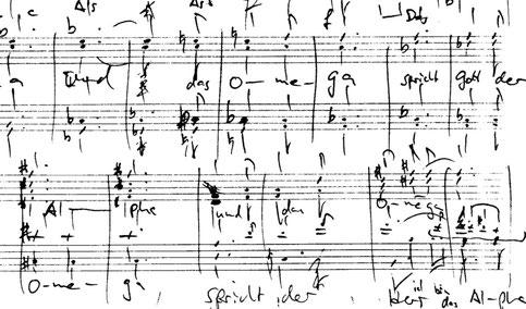 Handschrift Orakel