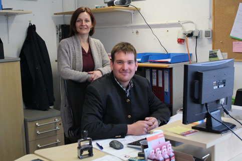 Firmeninhaber Christoph Ortner mit Dr. Renate Mayer