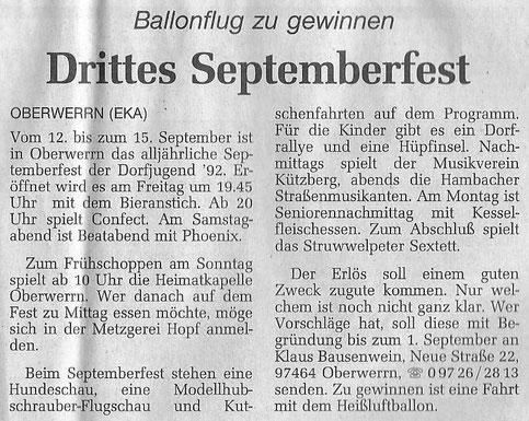 22.08.1997 Schweinfurter Tagblatt