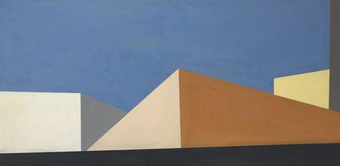 Farbräume 14, Acryl, 2019, 50 x 100 cm