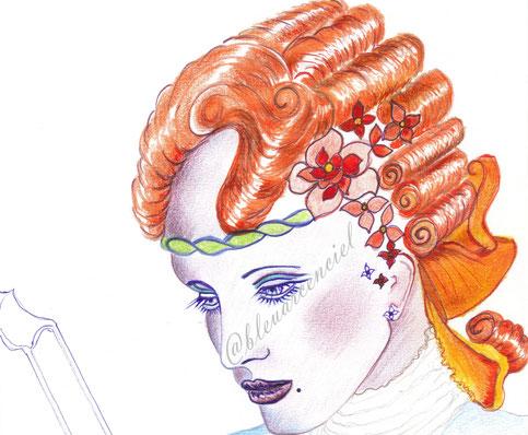2014 Dessin aux crayons de couleur sur feuille de canson 24/32 cm