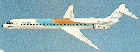 Modellfoto einer MD-82 von ALM/Courtesy: McDonnell Douglas