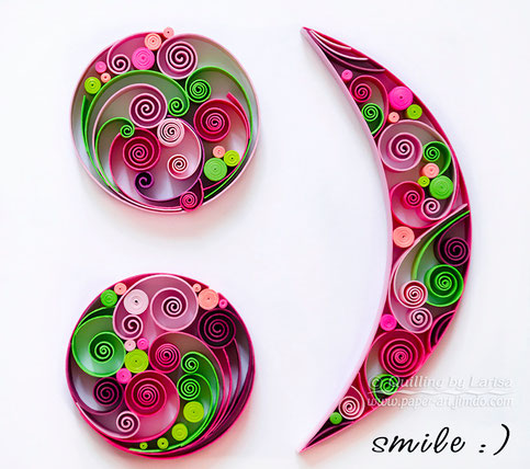 quilling, art, paper art, paper, design, artwork,  quilling wall art, creative, create, paper craft, smile, gift, квиллинг