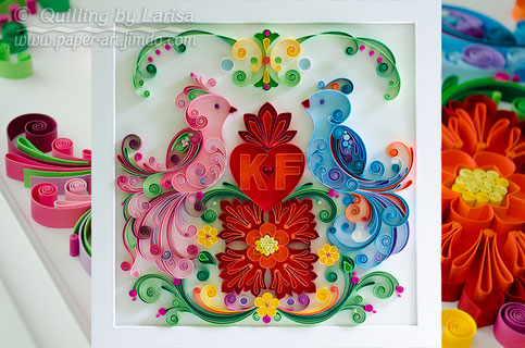 quilling, quilling art, paper,  Love birds, paper art, design, wall art, quilling wall art, love, Etsy, любовь, квиллинг, бумага, дизайн