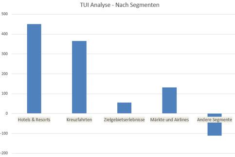 TUI Aktien Analyse - nach Segmenten