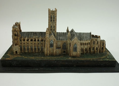 Folk art model of a church