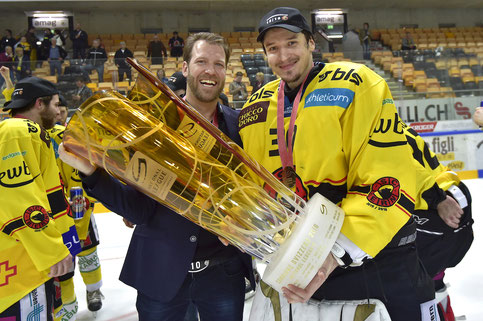 Reto Schurch and Jakub Stepanek with Swiss Champion Cup 2016 - SC Bern