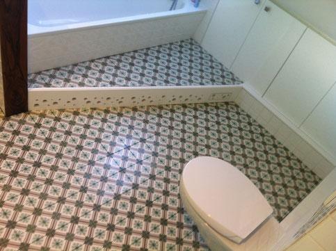 Zementfliesen Im Bad Küche Oder Diele Nonnast Raumbeton