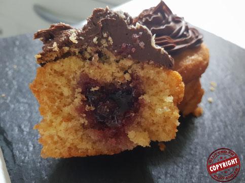 cupcake cerise topping choco sans gluten sans lactose