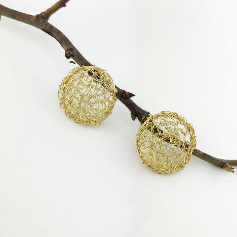 capiba bijoux créateur collier crochet doré or fin fait main