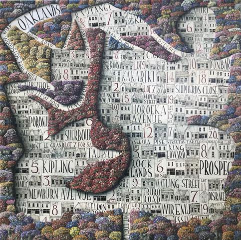 'Eden Garden' 100 x 100 cm , Oil on canvas 2020 SOLD