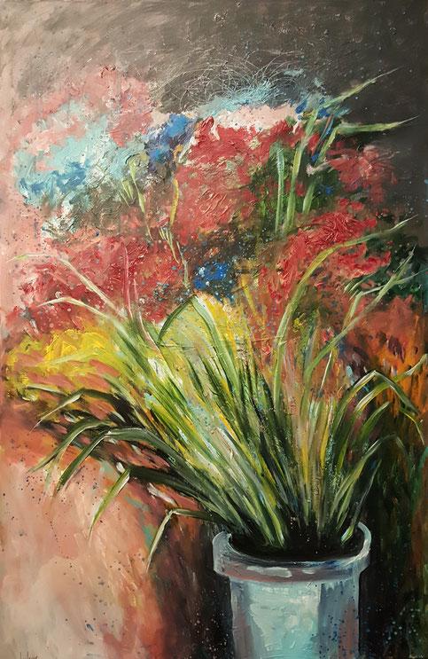 bernadette leclercq art peinture fleurs