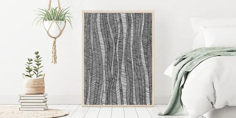 Plakat, Wanddekoration, Bild, Poster, Blumen, Aquarell, Illustration