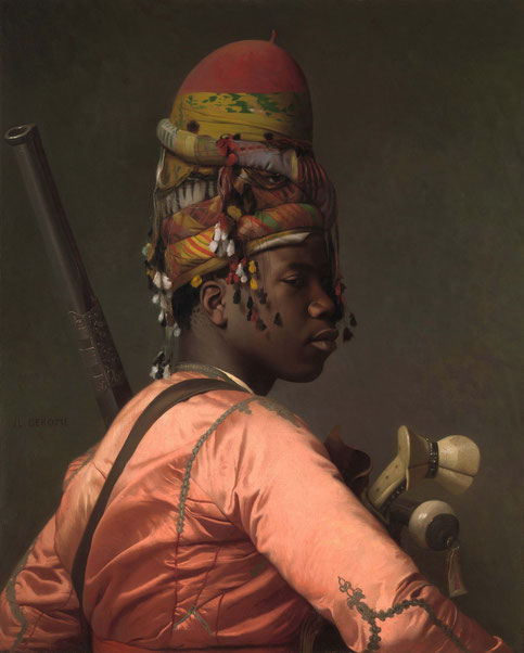 Gilded-Age-Portrait BASHI-BAZOUK, von Jean-Leon Gerome, 1868-69