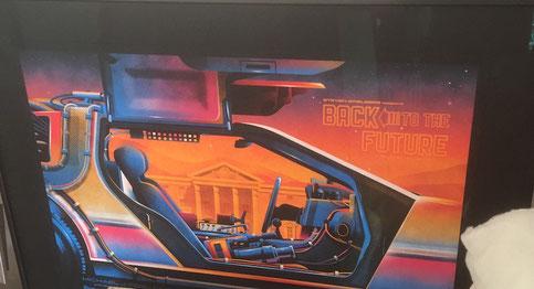 Bild einrahmen Bern: Plakat,Back to the future - Plakat - Auto, DeLorean