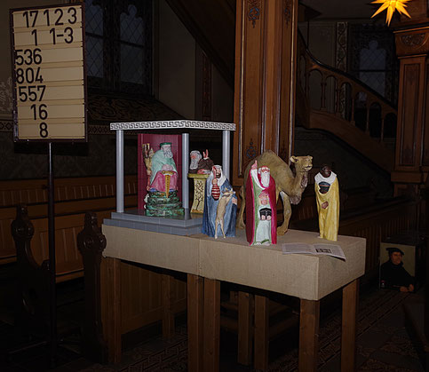 Krippenszene in der evangelischen Martinskirche