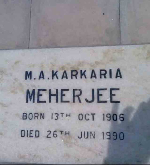 Meherjee's grave at Lower Meherabad, MS., India