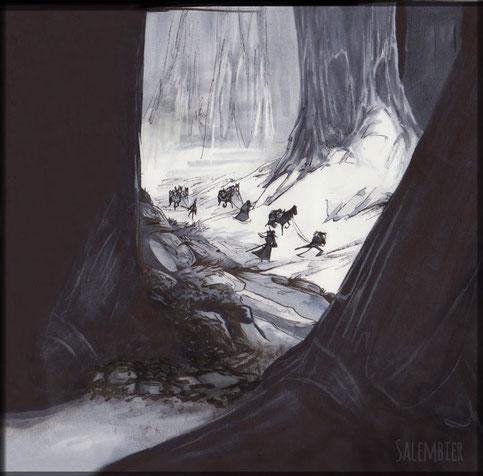 salembier-francois-illustrateur-auteur-de-bd-scénariste-freelance-western-nb-noir-blanc-sapin-neige