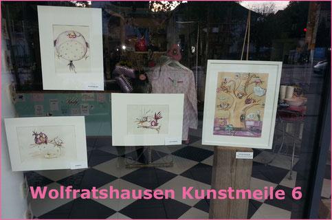 Kunstmeile 6, Wolfratshausen, ilka walter,ottbyrds,late night, schaufenster, schäge vögel
