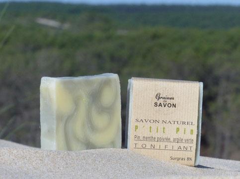 chanvre-peaux mixtes-reminéralisant-équilibrant-forêts de pins-marbré-vert-cadeau-Gironde