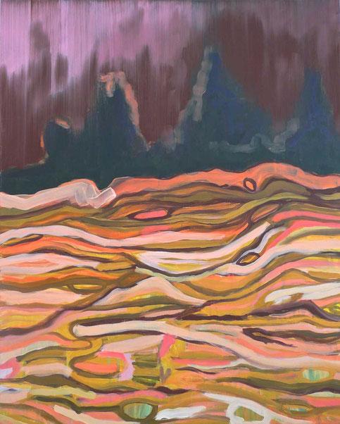 Tellurique 1, 2015 Acryl auf Leinwand 80x65
