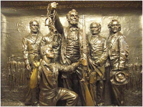 Lincoln wird überall verehrt - die Befreiung der Sklaven