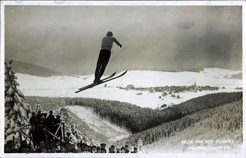 Hans Edler von der Planitz auf der Keilbergschanze 30.1.1927